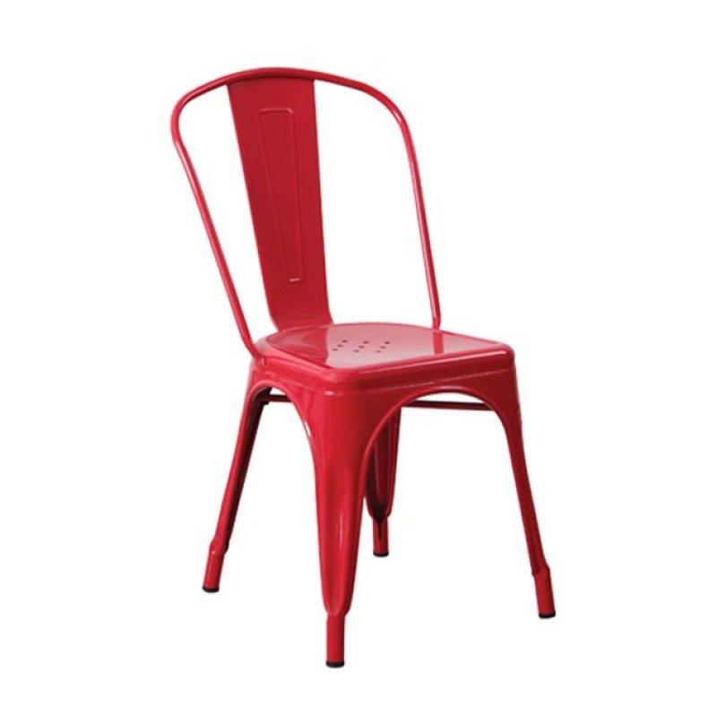 """Καρέκλα """"RELIX"""" μεταλλική σε χρώμα κόκκινο 45x51x85"""