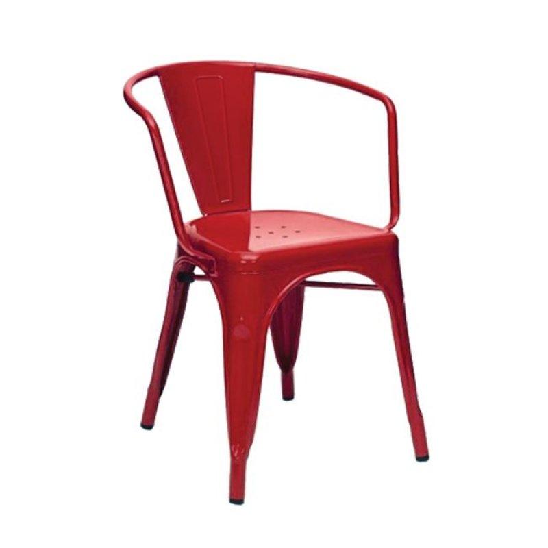 """Πολυθρόνα """"RELIX"""" μεταλλική σε κόκκινο χρώμα 52x49x72"""