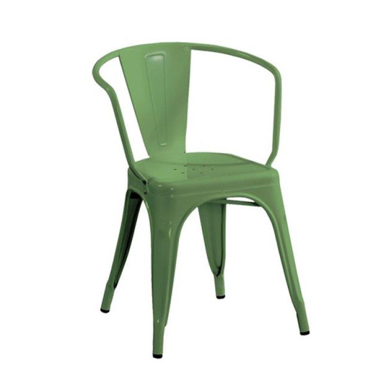 """Πολυθρόνα """"RELIX"""" μεταλλική σε πράσινο χρώμα 52x49x72"""