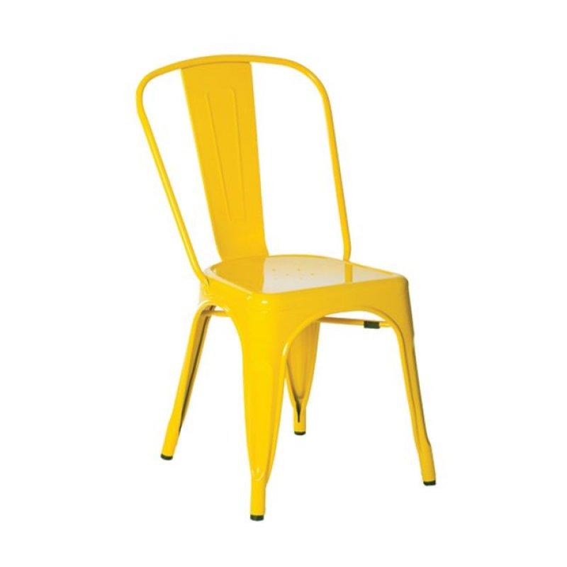 """Καρέκλα """"RELIX"""" μεταλλική σε χρώμα κίτρινο 45x51x85"""