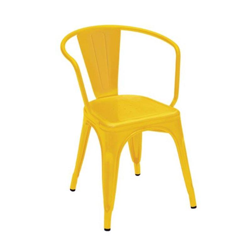 """Πολυθρόνα """"RELIX"""" μεταλλική σε κίτρινο χρώμα 52x49x72"""