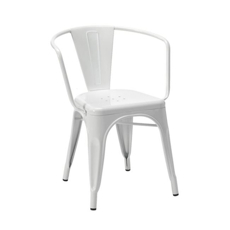 """Πολυθρόνα """"RELIX"""" μεταλλική σε λευκό χρώμα 52x49x72"""