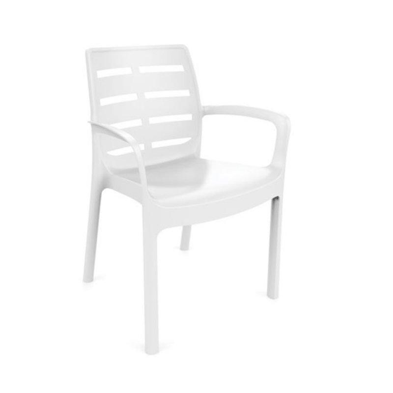 """Πολυθρόνα """"BORNEO"""" από πολυπροπυλένιο σε λευκό χρώμα 61x56x82"""