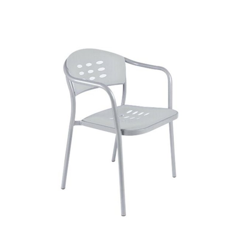 """Πολυθρόνα """"ENIGMA"""" από πολυπροπυλένιο σε λευκό χρώμα 45x55x78"""