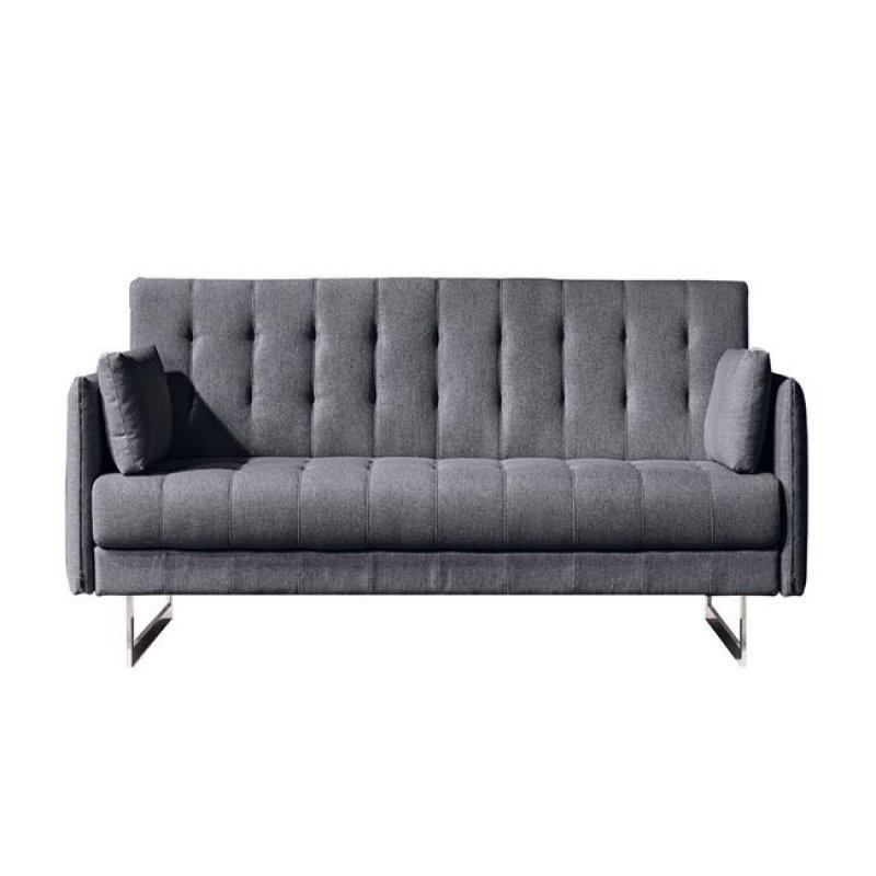 """Καναπές """"RUDY"""" διθέσιος υφασμάτινος σε ανθρακί χρώμα 140x90x85"""