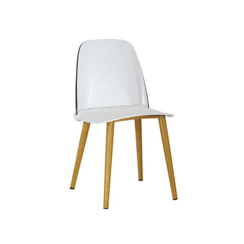 """Καρέκλα """"ERGO"""" μεταλλική-pp σε χρώμα λευκό 47x50x81"""