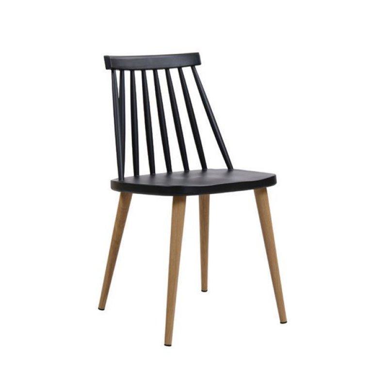 """Καρέκλα """"LAVIDA"""" μεταλλικη-pp σε μαύρο χρώμα 43x48x77"""