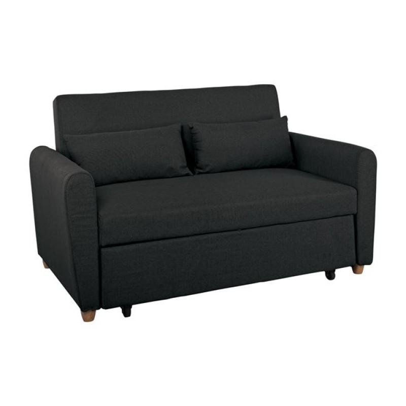 """Καναπές-κρεβάτι """"NOLAN"""" γωνία αναστρέψιμος από ύφασμα σε σκούρο γκρι χρώμα 236x151x83"""