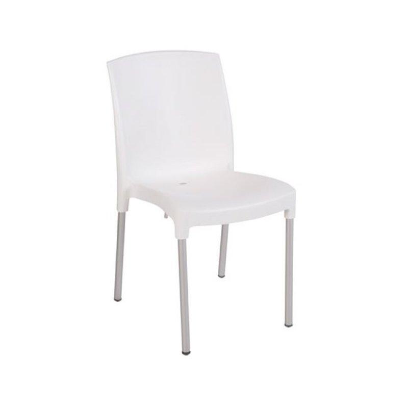"""Καρέκλα """"JENNY"""" από πολυπροπυλένιο σε λευκό χρώμα 45x57x82"""