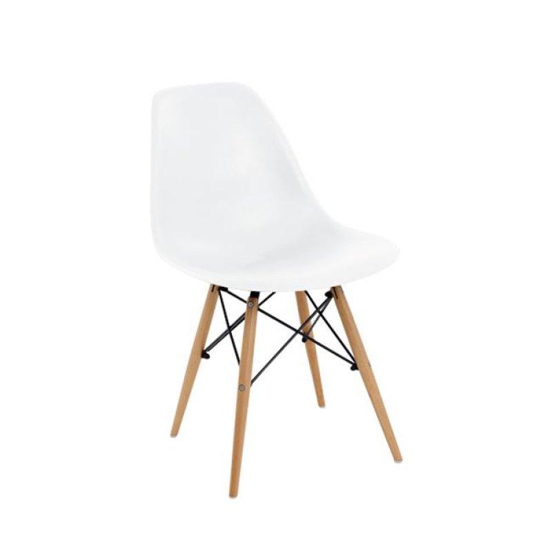 """Καρέκλα """"ART Wood"""" πολυπροπυλενίου χρώματος λευκό 46x53x81"""