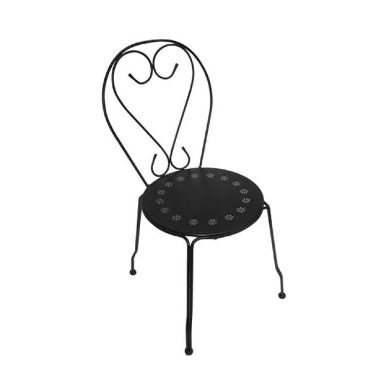 """Καρέκλα """"BISTRO"""" μεταλλική σε μαύρο χρώμα 41x48x90"""