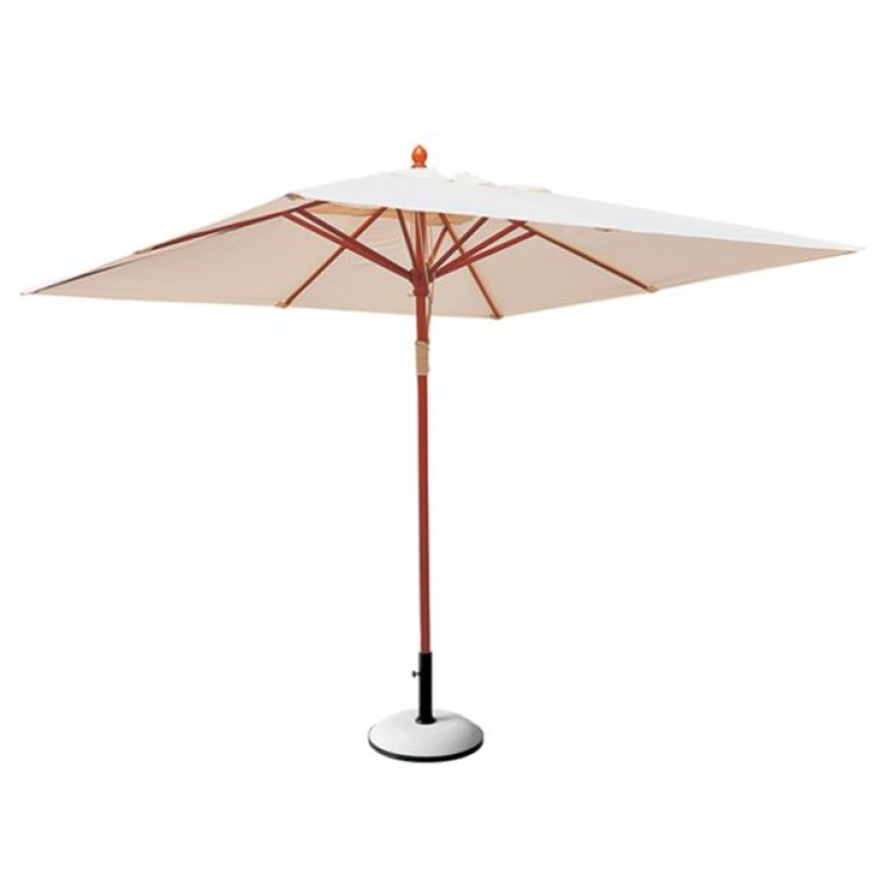 """Ομπρέλα τετράγωνη """"SOLEIL"""" ξύλινη-υφασμάτινη σε εκρού χρώμα Φ2"""