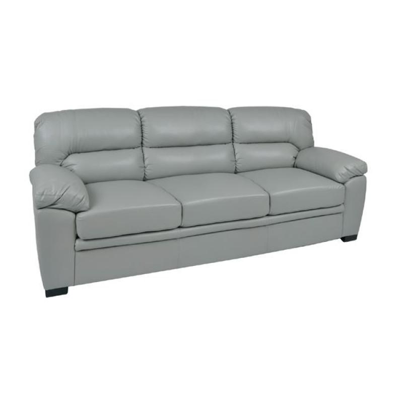 """Καναπές """"IMPERIAL"""" τριθέσιος bonded leather-pu σε χρώμα γκρι 213x89x89"""