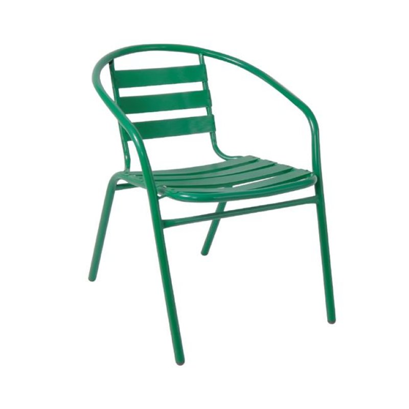 """Πολυθρόνα """"FUNKY"""" από μέταλλο-αλουμίνιο σε πράσινο χρώμα 54x57x73"""