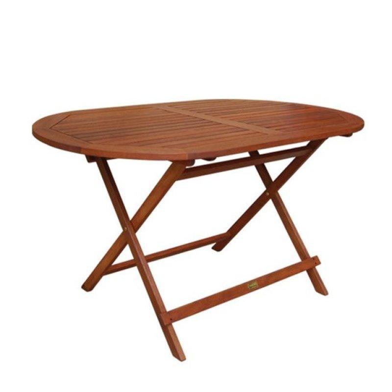 """Τραπέζι """"EASY-K"""" επεκτεινόμενο οβάλ σε χρώμα καρυδί 120x70x72"""
