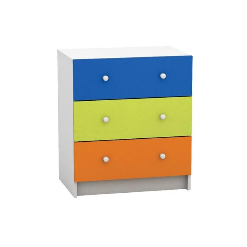 """Συρταριέρα παιδική """"DECON"""" πολύχρωμη 60x40x68"""
