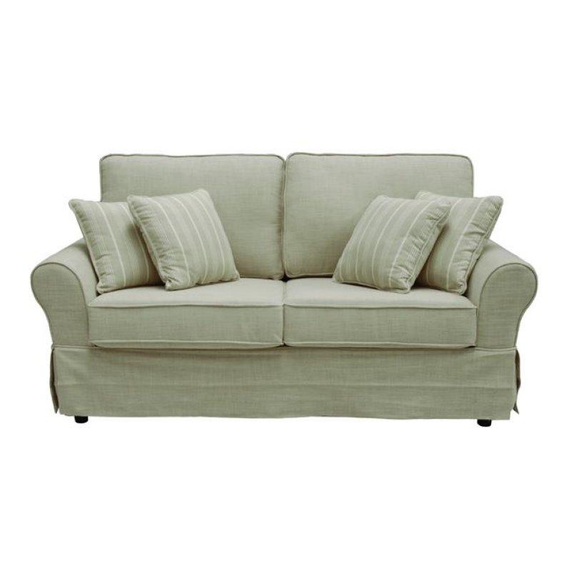 """Καναπές """"AURELIA"""" τριθέσιος από ύφασμα σε μπεζ χρώμα 205x90x93"""