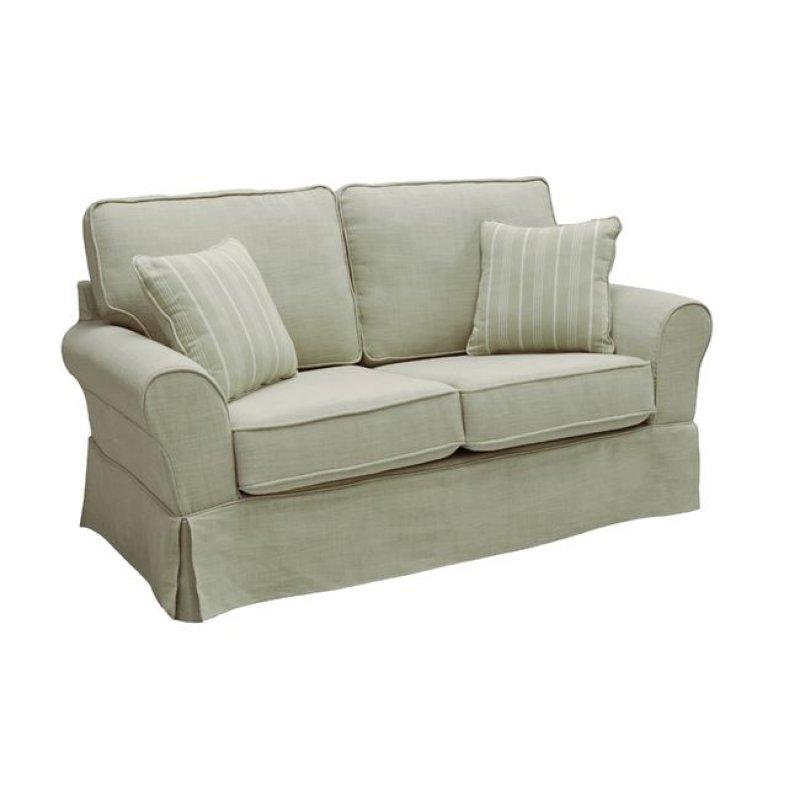 """Καναπές """"AURELIA"""" διθέσιος υφασμάτινος σε μπεζ χρώμα 163x90x93"""