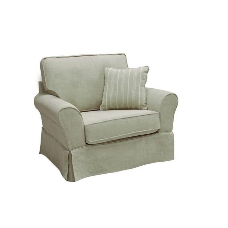 """Πολυθρόνα """"AURELIA"""" από ύφασμα σε μπεζ χρώμα 104x90x93"""