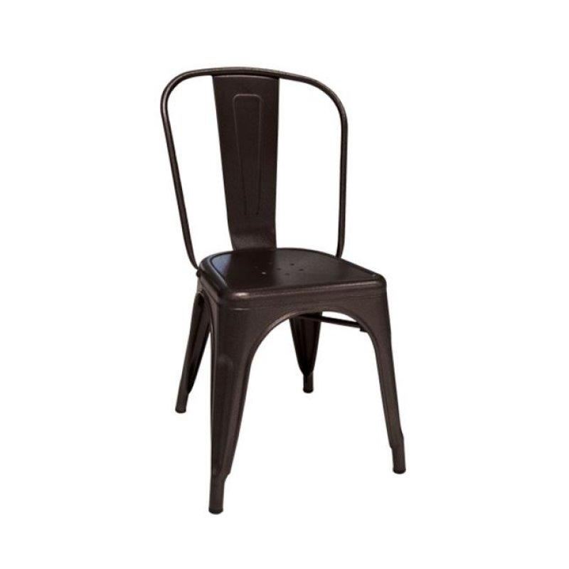 """Καρέκλα """"RELIX"""" μεταλλική σε χρώμα καφέ 45x51x85"""