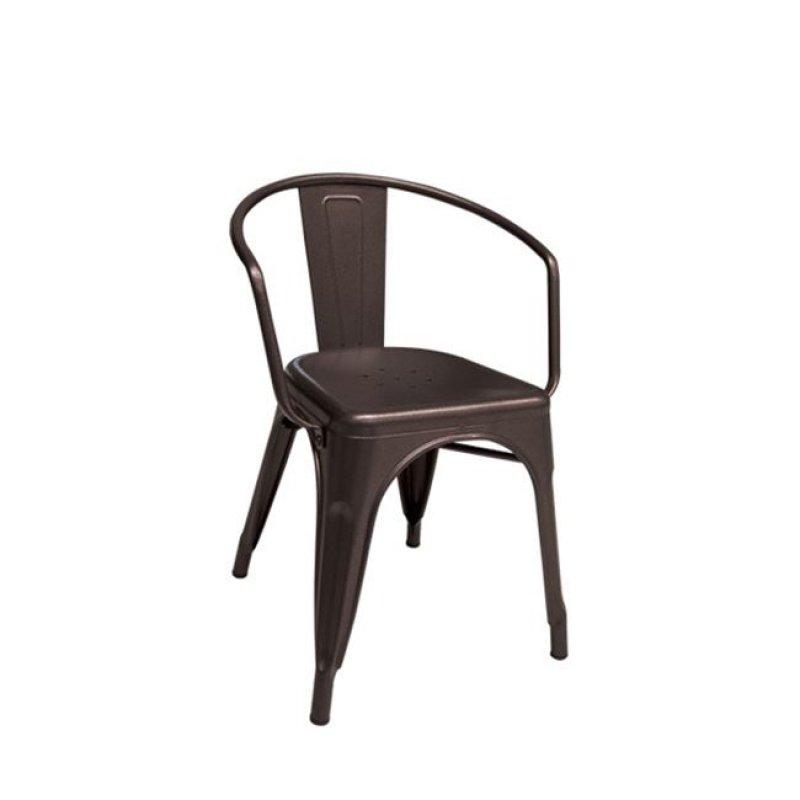"""Πολυθρόνα """"RELIX"""" μεταλλική σε καφέ χρώμα 52x49x72"""
