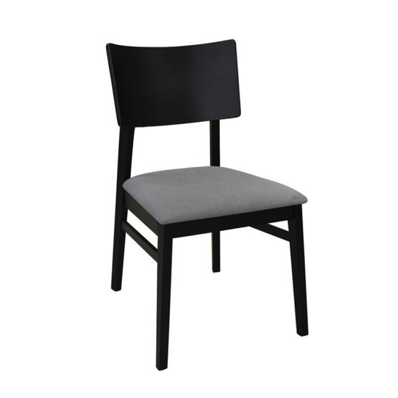 """Καρέκλα """"VISTA"""" ξύλινη-υφασμάτινη σε χρώμα γκρι 46x56x87"""