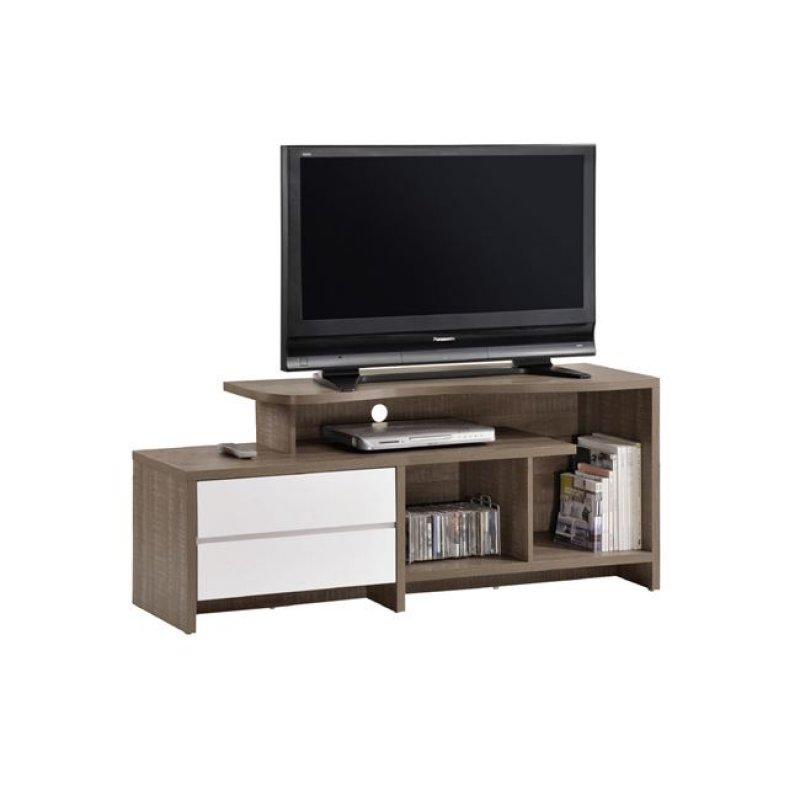 """Έπιπλο τηλεόρασης """"LIFE"""" σε χρώμα καρυδί δρυς-λευκό 150x41x60"""