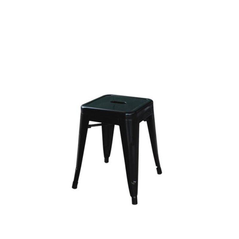 """Σκαμπώ """"RELIX"""" μεταλλικό σε μαύρο χρώμα 39x39x45"""