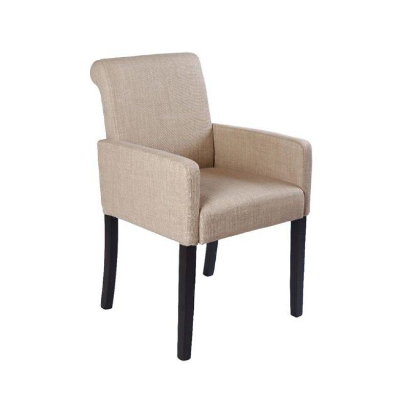 """Πολυθρόνα """"MONDERO"""" υφασμάτινη σε χρώμα μπεζ 55x61x86"""