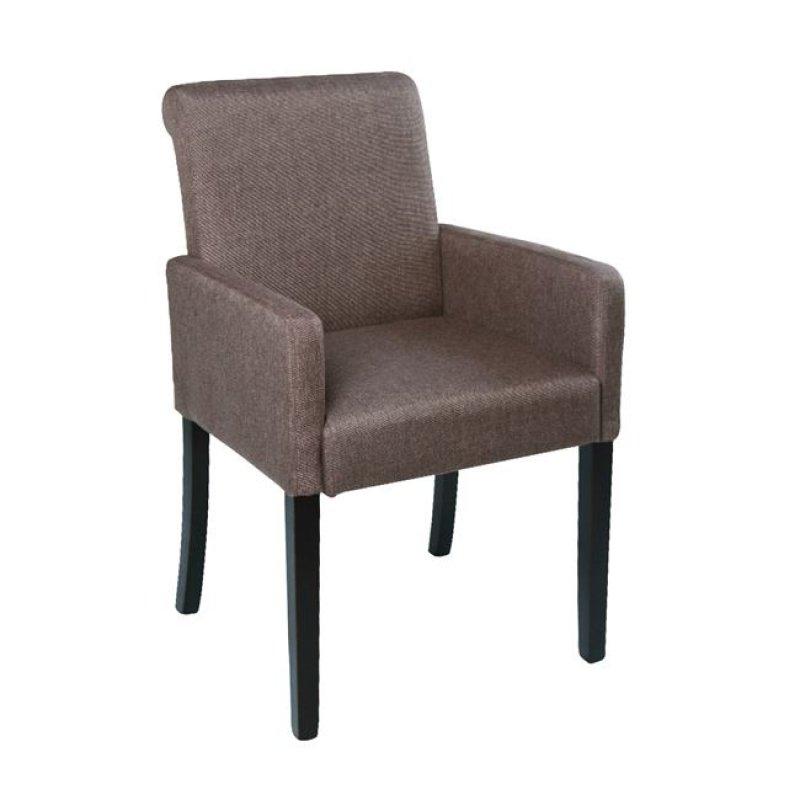 """Πολυθρόνα """"MONDERO"""" υφασμάτινη σε χρώμα σκούρο καφέ 55x61x86"""