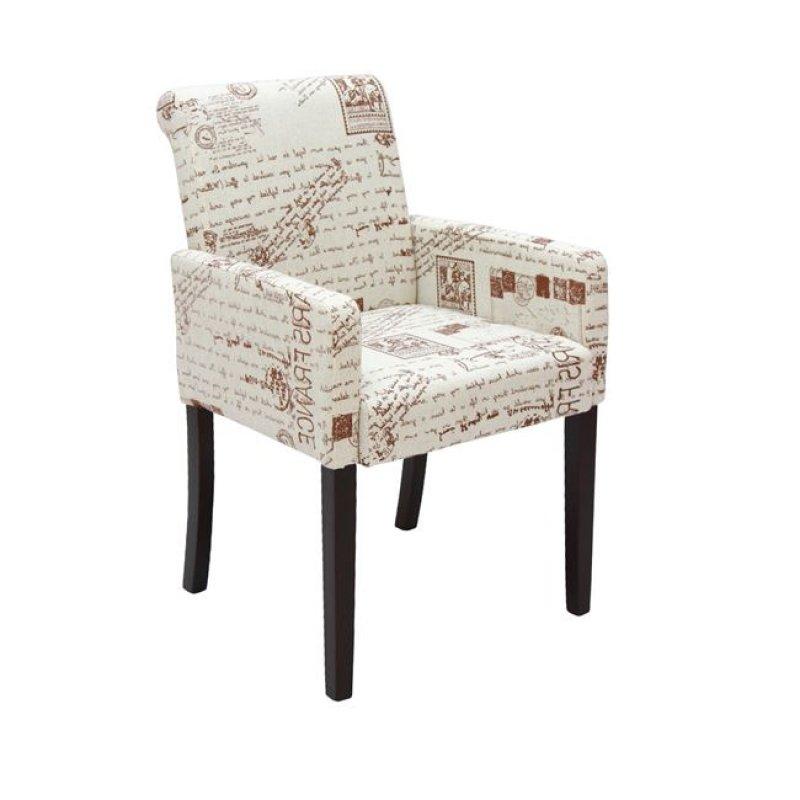 """Πολυθρόνα """"MONDERO"""" υφασμάτινη σε χρώμα deco λευκό 55x61x86"""