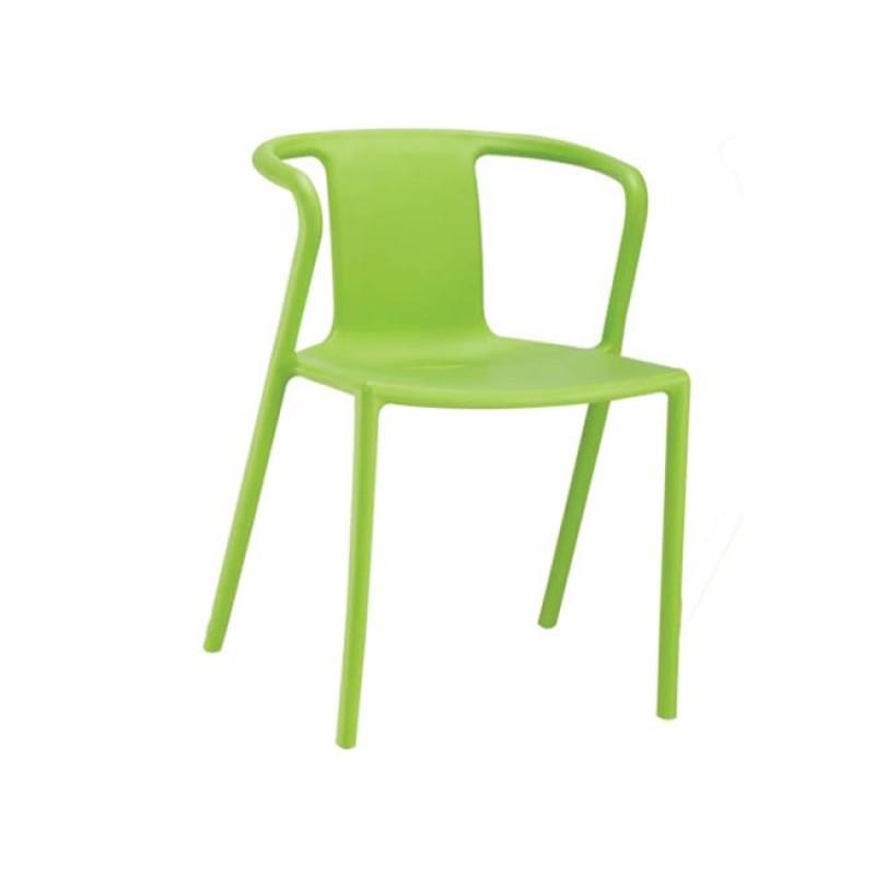 """Πολυθρόνα """"SPRING"""" από πολυπροπυλένιο σε χρώμα πράσινο 51x49x71"""
