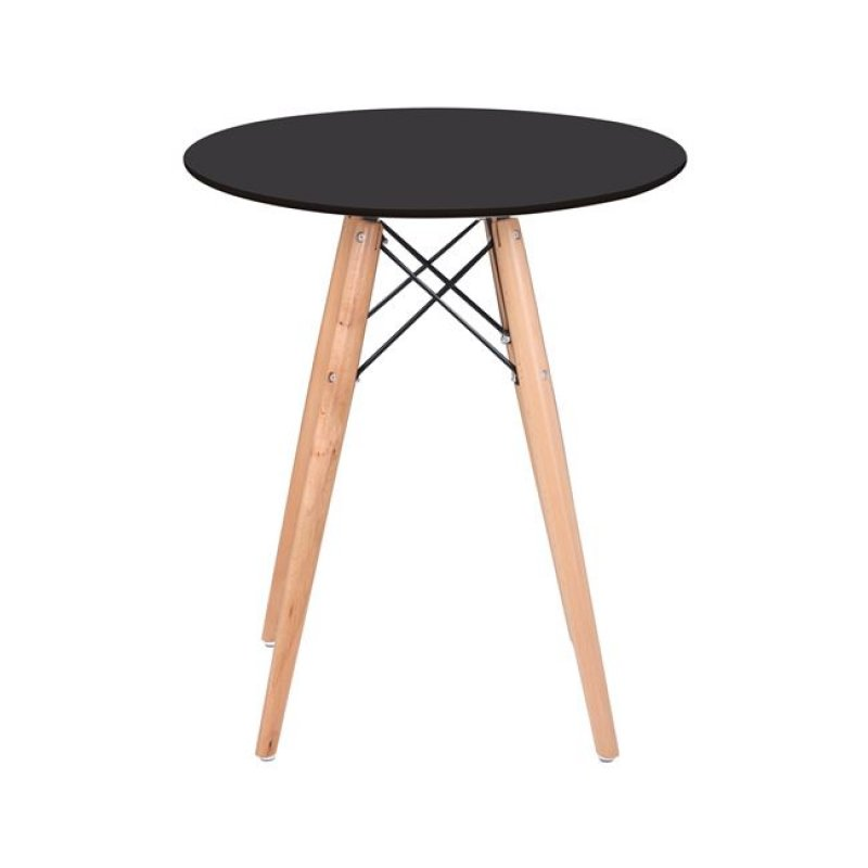 """Τραπέζι """"ART Wood """" σε χρώμα μαύρο 60x68"""