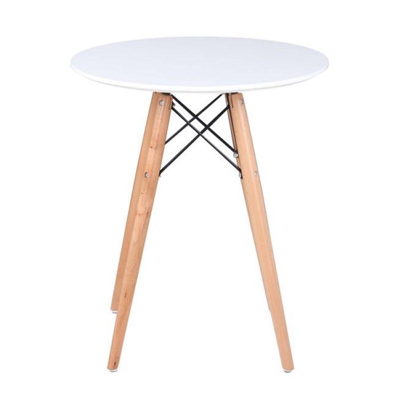 """Τραπέζι """"ART Wood """" σε χρώμα  λευκό 60x68"""