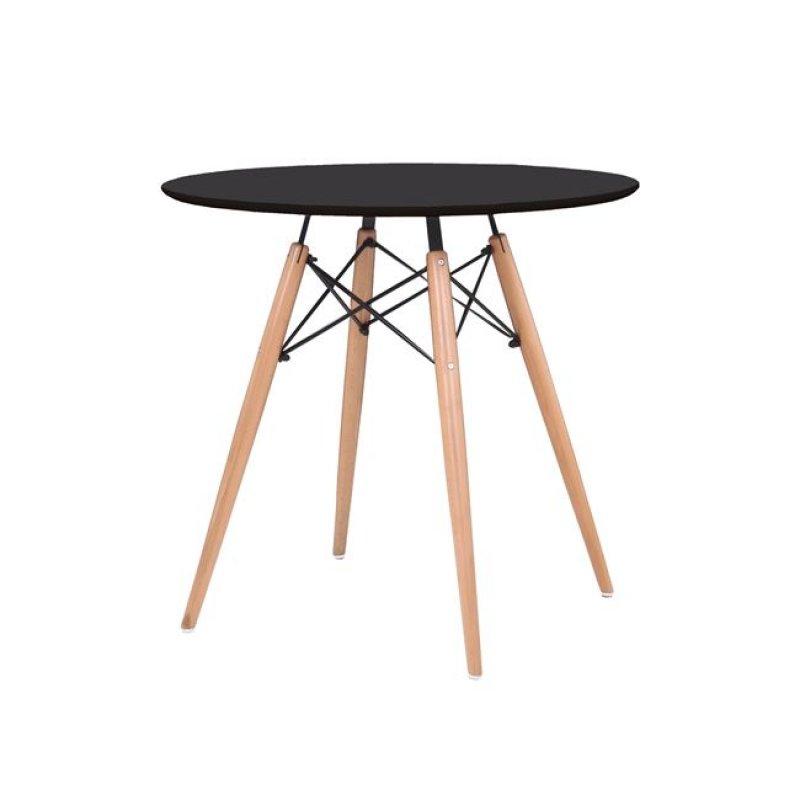 """Τραπέζι """"ART Wood """" σε χρώμα μαύρο 80x74"""