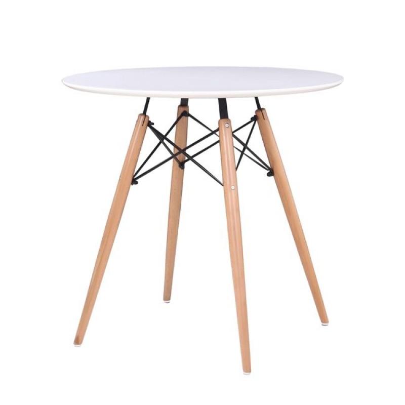 """Τραπέζι """"ART Wood """" σε χρώμα λευκό 80x74"""