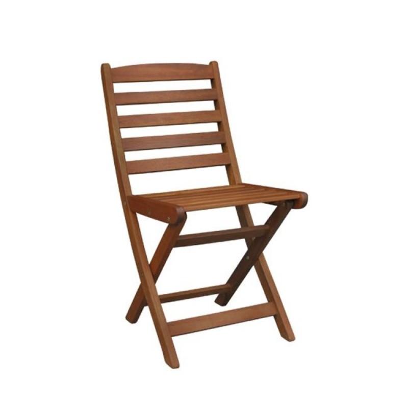 """Καρέκλα """"SIDE"""" πτυσσόμενη ξύλινη σε χρώμα καρυδί 40x51x81"""
