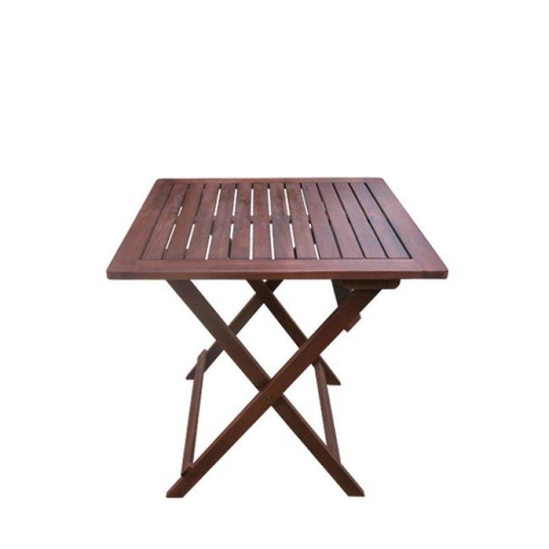 """Τραπέζι """"EASY"""" πτυσσόμενο σε χρώμα καρυδί 60x60x70"""