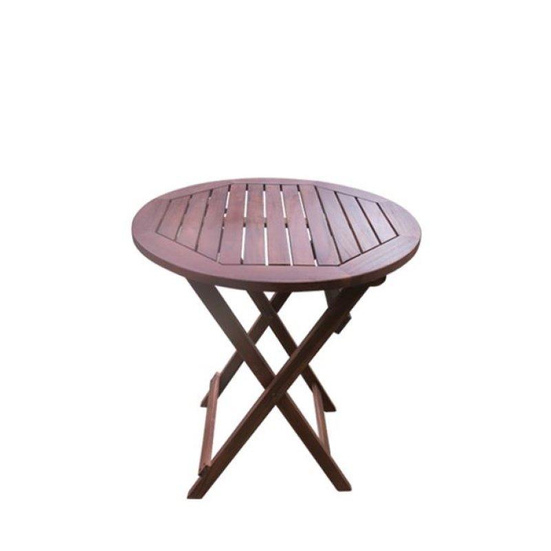 """Τραπέζι """"EASY"""" πτυσσόμενο σε χρώμα καρυδί 60x70"""