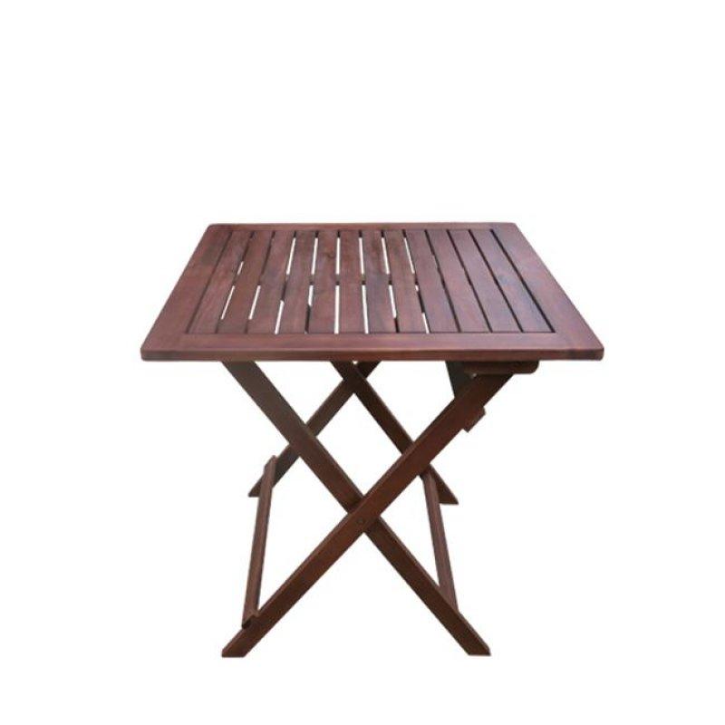 """Τραπέζι """"EASY"""" πτυσσόμενο σε χρώμα καρυδί 70x70x70"""