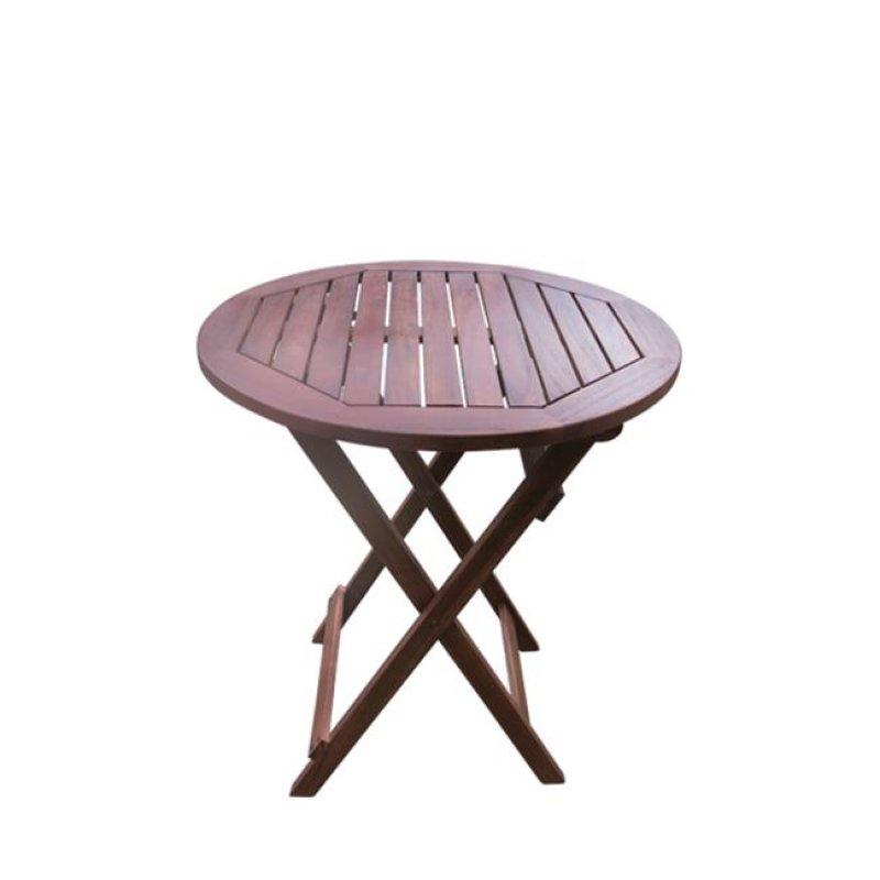 """Τραπέζι """"EASY"""" πτυσσόμενο σε χρώμα καρυδί 70x70"""