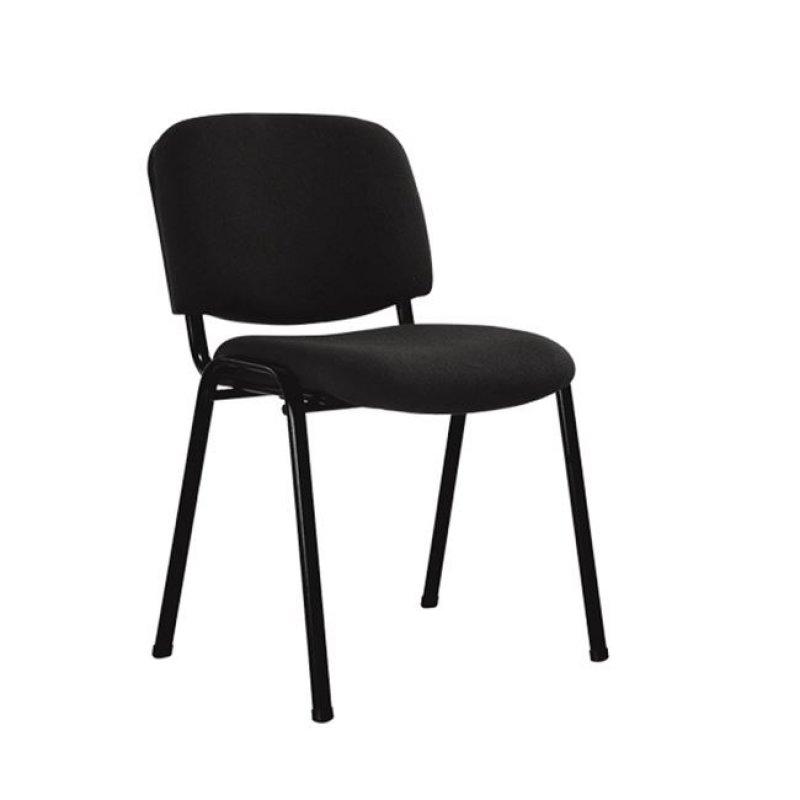 """Καρέκλα επισκέπτη στοιβαζόμενη """"SIGMA"""" από ύφασμα σε μαύρο χρώμα 52x54x79"""