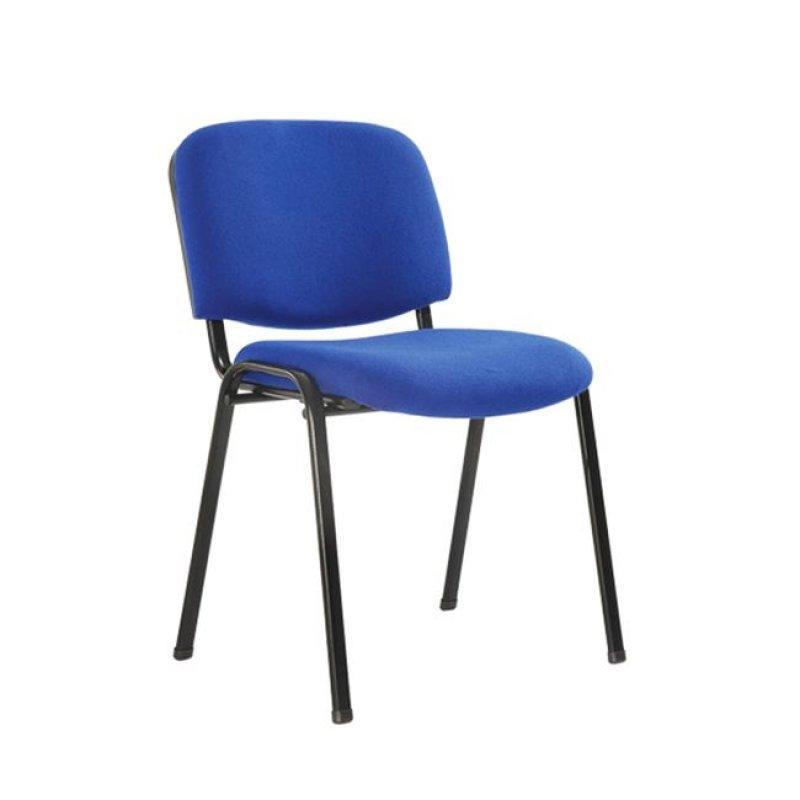 """Καρέκλα επισκέπτη στοιβαζόμενη """"SIGMA"""" από ύφασμα σε μπλε χρώμα 52x54x79"""