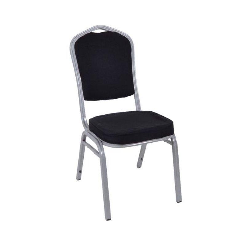 """Καρέκλα """"HILTON"""" μεταλλική-υφασμάτινη σε μαύρο χρώμα 45x62x94"""