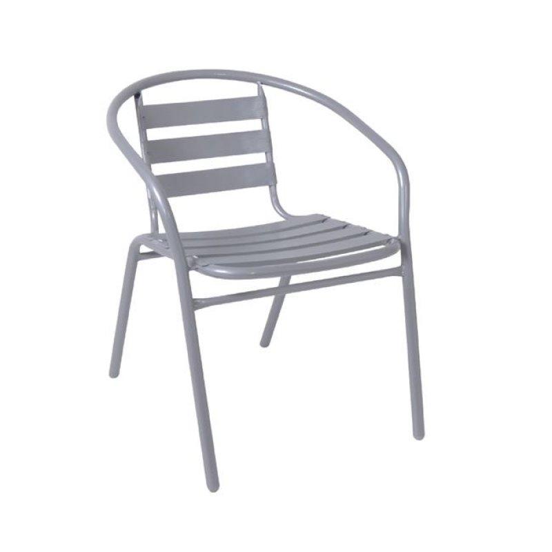 """Πολυθρόνα """"FUNKY"""" από μέταλλο-αλουμίνιο σε γκρί χρώμα 54x57x73"""