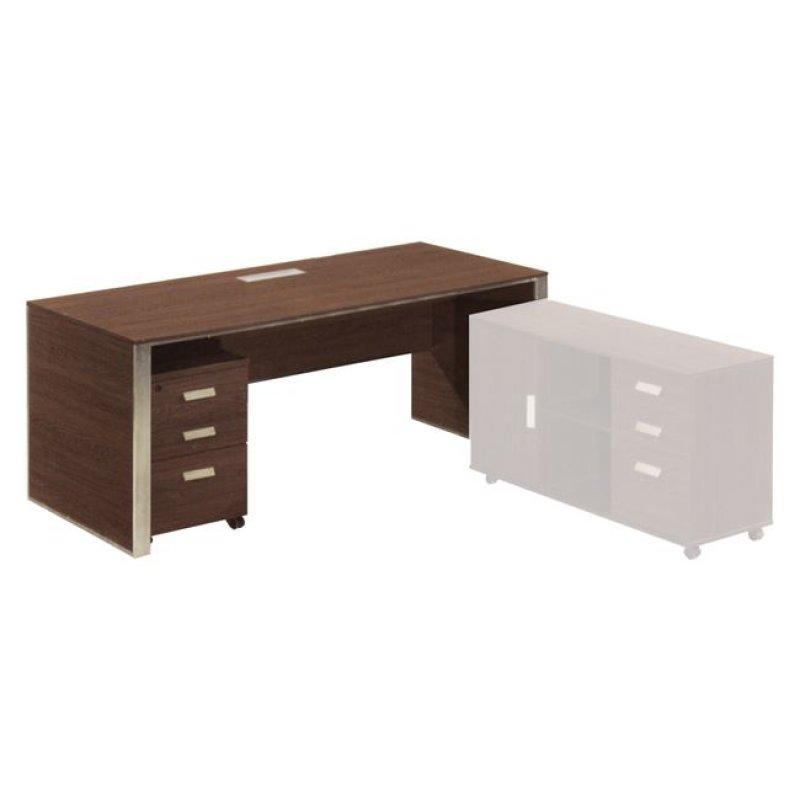 """Γραφείο """"ALPINE"""" σε χρώμα σκούρο καρυδί 200x90x76"""