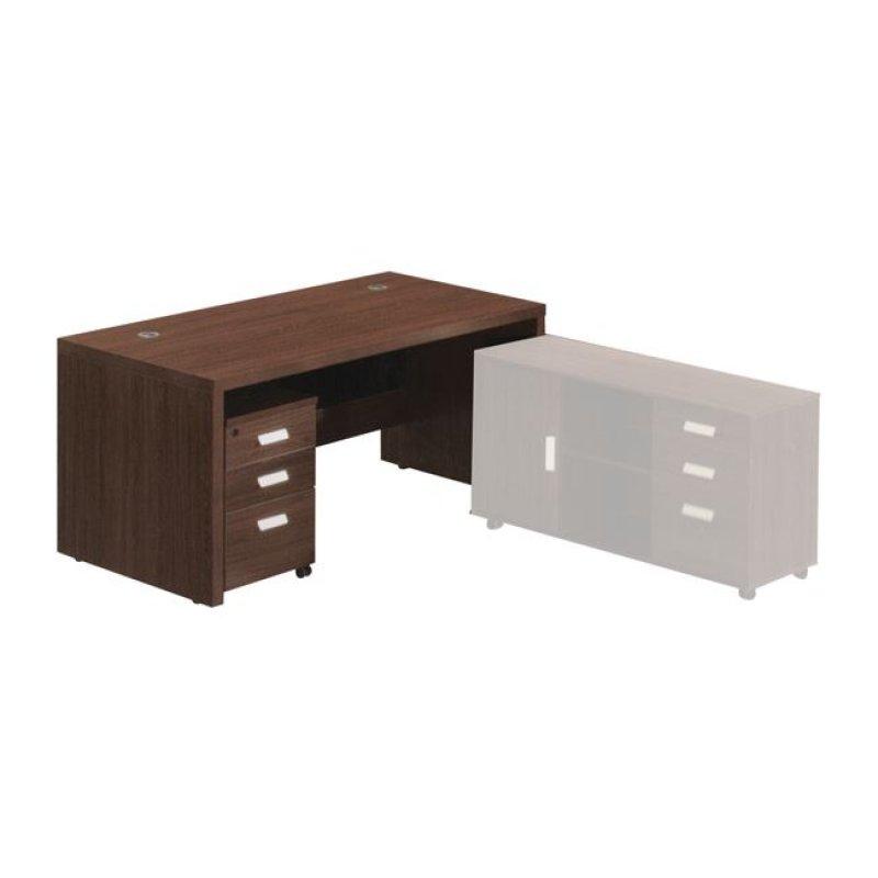 """Γραφείο """"ALPINE"""" σε χρώμα σκούρο καρυδί 180x80x76"""