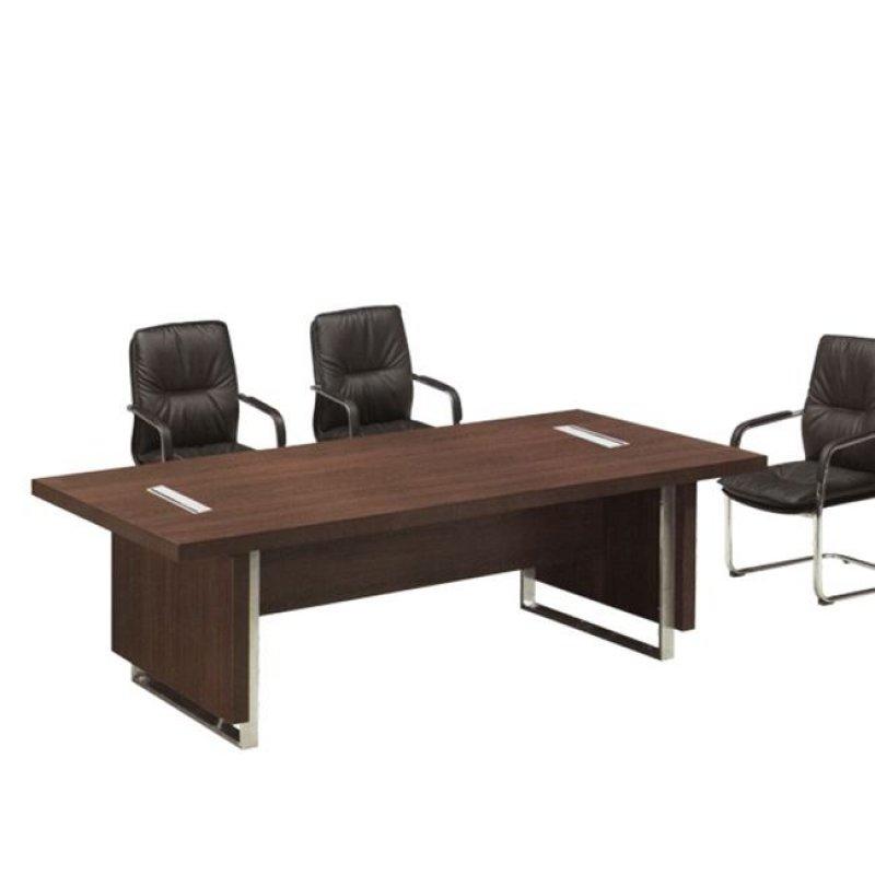"""Τραπέζι συνεδρίου """"ALPINE"""" σε χρώμα σκούρο καρυδί 240x120x76"""