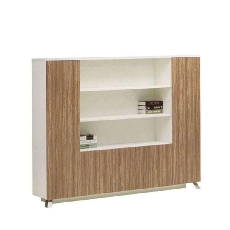 """Βιβλιοθήκη """"SAN-MARTIN"""" σε χρώμα rosewood-λευκό 225x40x180"""