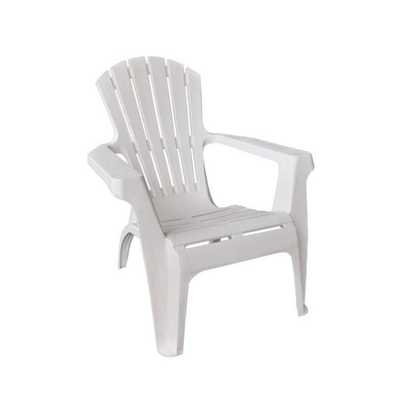 """Πολυθρόνα """"DOLOMITI"""" από πολυπροπυλένιο σε λευκό χρώμα 75x86x86"""